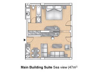 Aldemar Olympian Village - Royal Olympian - Room Plan