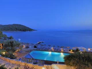 Adrina Beach Hotel - Swimming Pool at night
