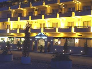 Platon Beach Hotel - Exterior View at Night