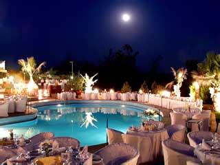 Philippion Hotel - Swimming Pool at night