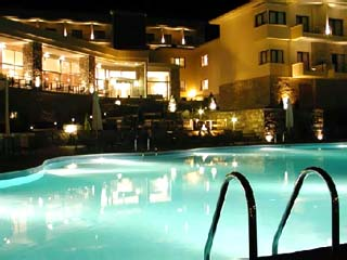 Limneon Resort and SPA - Swimming Pool at Night