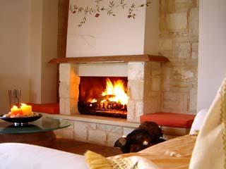 Athina Luxury Villas - Myrtia Living Room