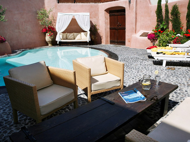 Villa Io - Exterior View Pool Area