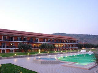 Europa Beach Hotel - Swimming Pool at Night