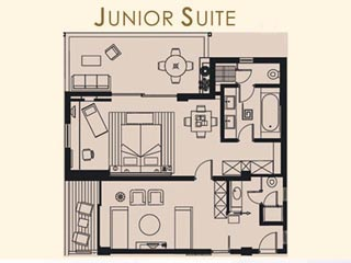 Kyllini Beach Resort - Junior Suite - Plan