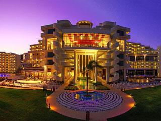 Elysium Resort & Spa - Exterior Night Front View