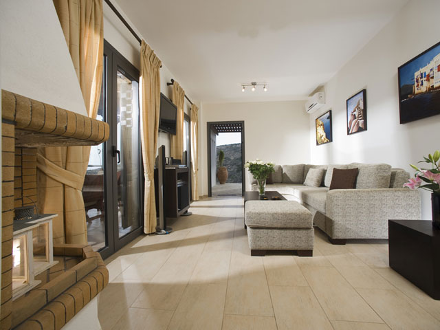 Elounda Solfez Villas - Living Room
