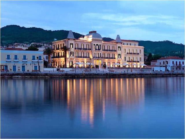 Poseidonion Grand Hotel - Exterior View at Night