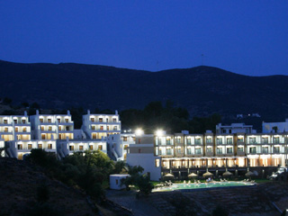 Evia Hotel & Suites - View by night