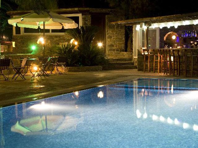 Paros Eden Park Hotel - Pool Night View