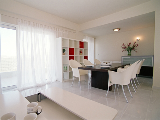 Rodanthi Luxurious Villas - Villa Mirto Living Room