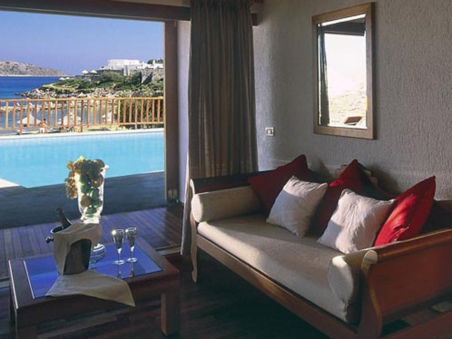 Porto Elounda Golf and SPA Resort - Seafront Villa Living Room