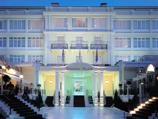 Theoxenia Palace Hotel - Exterior View at night