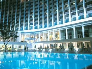 Athens Hilton Hotel - Swimming Pool at night