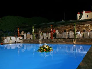 Faros Village Hotel - Swimming Pool at Night